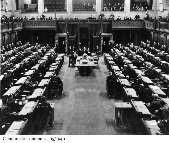 House of Commons Chamber - Chambre des communes, 05/1940