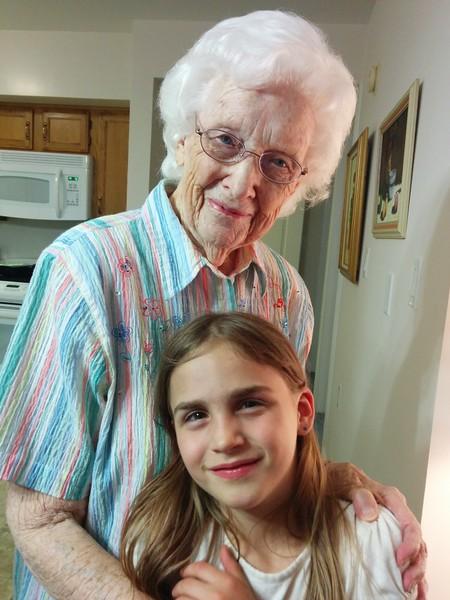 Anya with Great-Grandma Guengerich.
