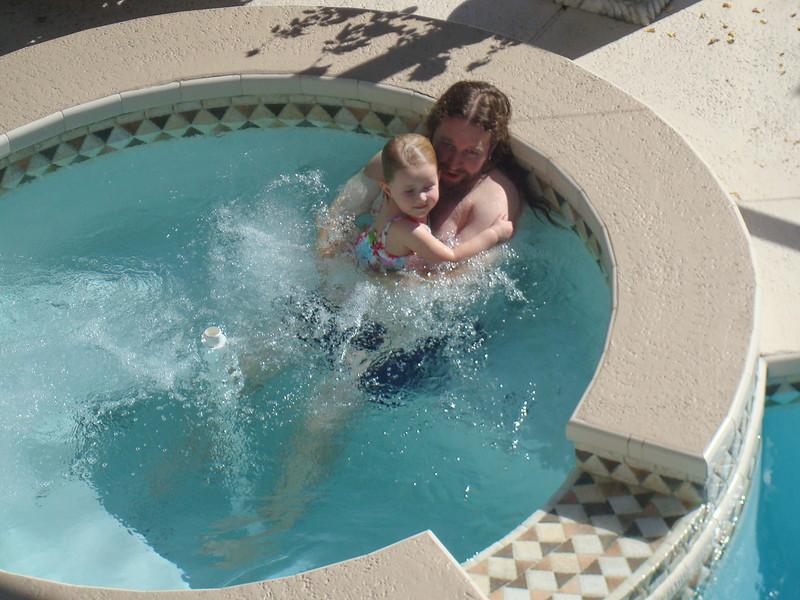 Beverly and Eric enjoying the hot tub