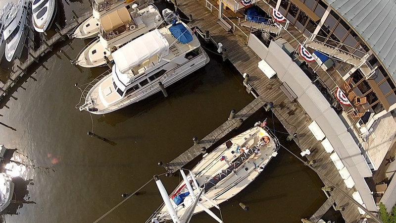 View from up the mast