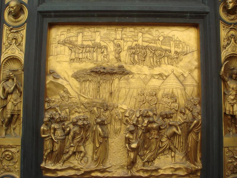 Ghiberti's bronze doors on Babtistery 2.jpg