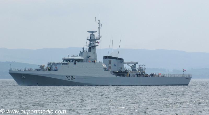 HMS Trent off Greenock 16th May 2019