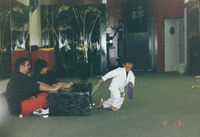 Sydney and Derek Karate 2001