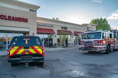 Park Meadows Drive Sign Fire