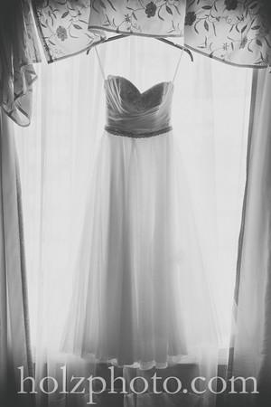April & Brian B/W Wedding Photos