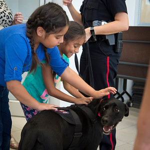 2016 Cookies with a Cop - at the Main Library