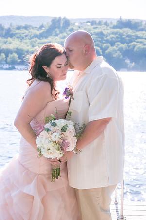 Chrissy & Scott | Back Yard Wedding | Lake Winnipesaukee, NH