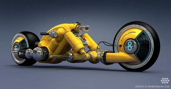 The Cosmic Motors Detonator Bike. Copyright by Cosmic Motors LLC / Daniel Simon www.danielsimon.com