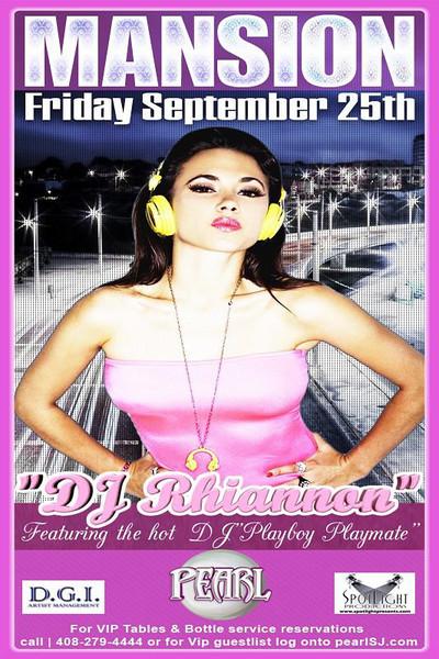 Playmate DJ Rhiannon @ Pearl 9.25.09