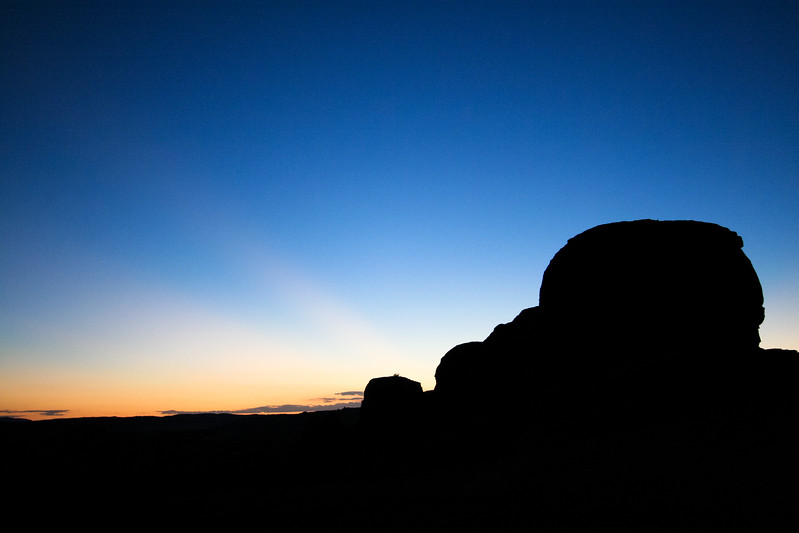Magic Mounds In Silhouette