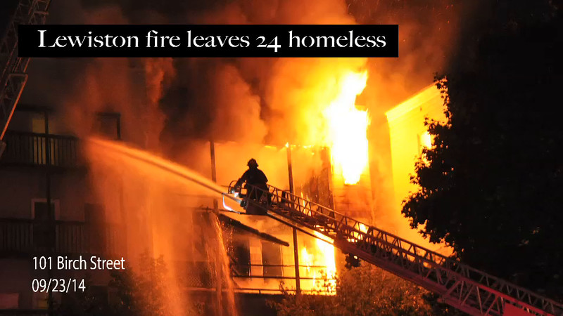 Lewiston fire leaves 24 homeless.m4v