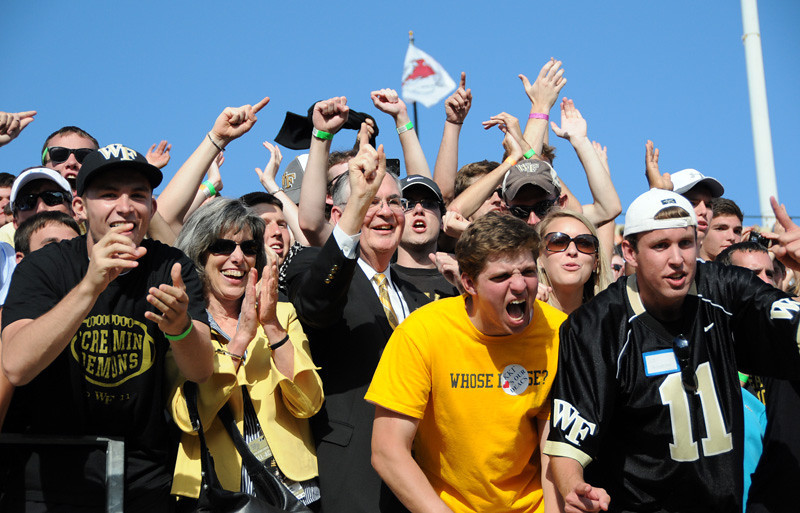 Students celebrate with President Hatch.jpg
