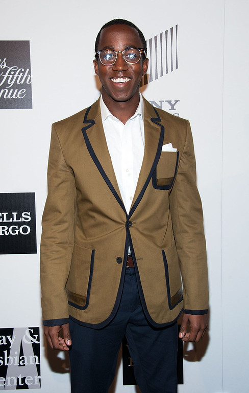 """. Lenworth Poyser arrives at \""""An Evening\"""" Benefiting The L.A. Gay & Lesbian Center at the Beverly Wilshire Four Seasons Hotel on March 21, 2013 in Beverly Hills, California. (Photo by Valerie Macon/Getty Images)"""