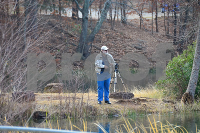 2/4/15 Tyler State Park Stocks Rainbow Trout by Gloria Swift