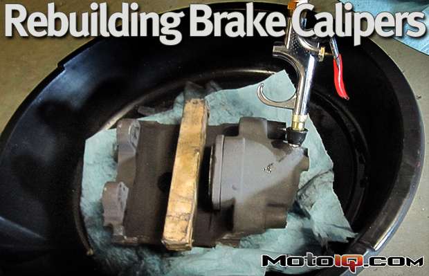 How to rebuild brake calipers as shown on a E36 BMW M3