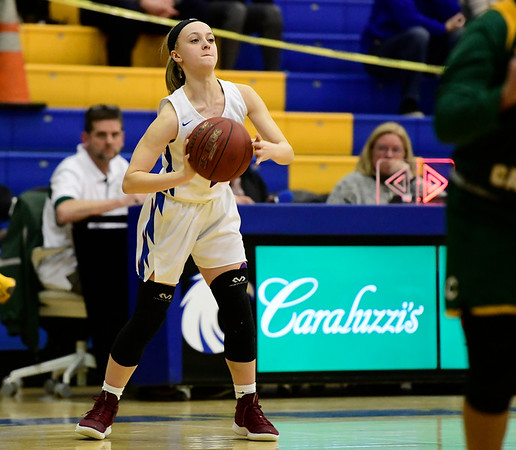 3/8/2019 Mike Orazzi   Staff St. Paul Catholic High Schools Kailyn Bielecki (11) during the Class S Semifinal girls basketball game with Trinity Catholic at Newtown High School Friday night in Newtown.
