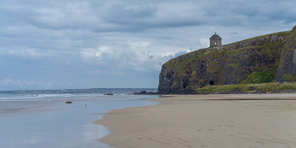 Mussenden Temple at Downhill Beach