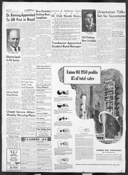 Daily Trojan, Vol. 43, No. 6, September 24, 1951