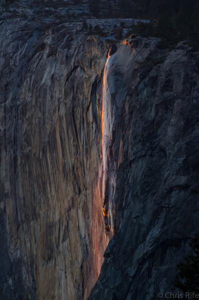 Horsetail Falls, Yosemite, Feb 2014
