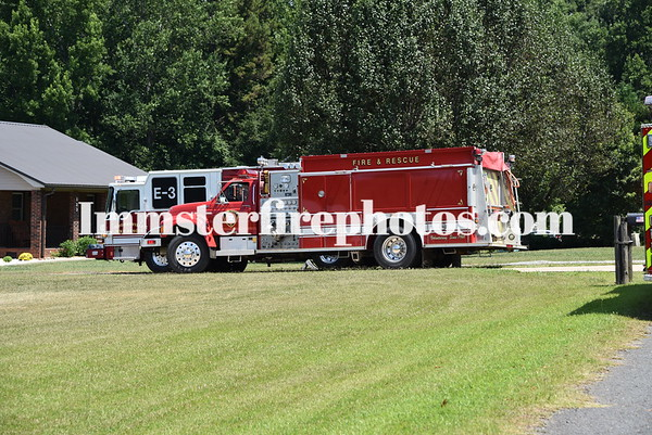 South Iredell, Mooresville, Mount Mourne and Atwell FD'S Burley Drive fire 7-4-21