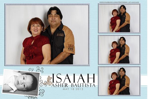 Isaiah Asher Bautista Christening Studiobooth