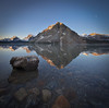 """Classic Bow Lake Sunrise"" - Banff National Park, Alberta, Canada."