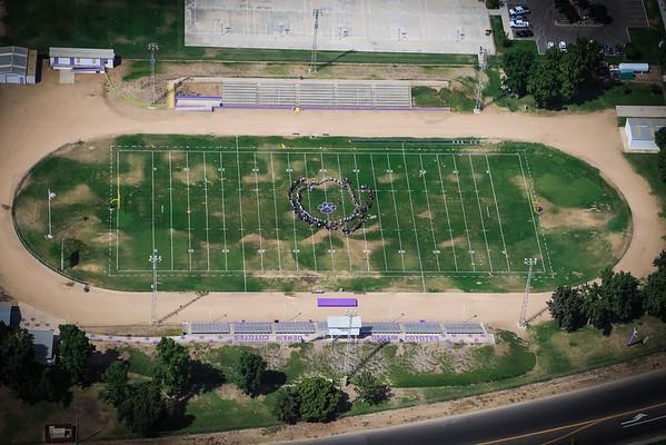 Denair High Football Field Aerial Photo's