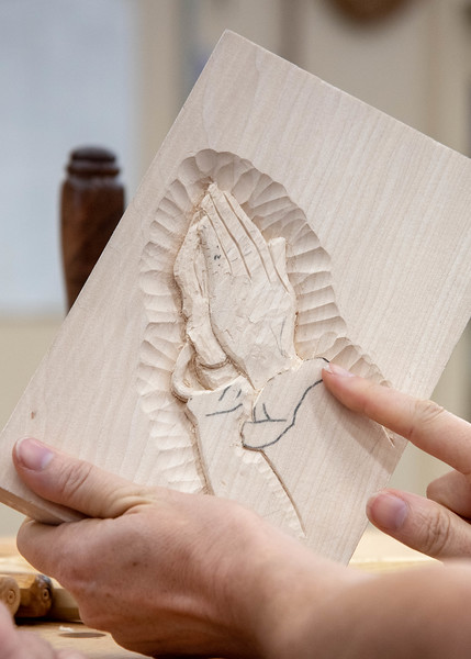Decorative Floral Relief Carving with Mary May