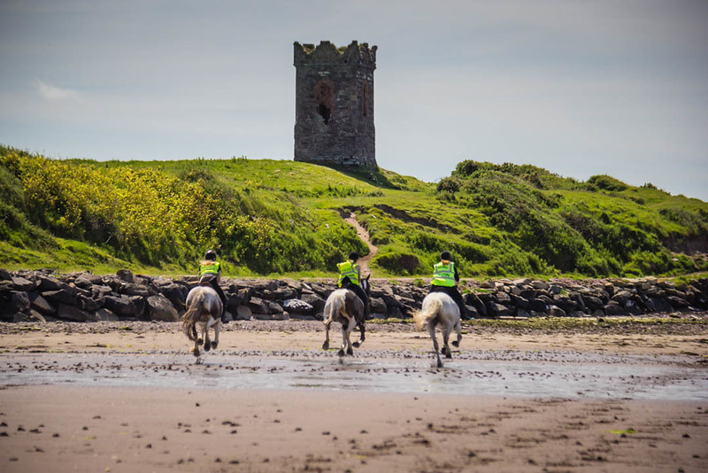 Horseback riding to Eask Tower in Dingle, Ireland
