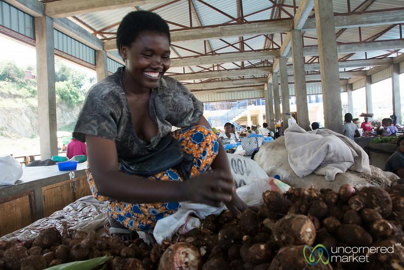 Cassava for Sale at Kibuye Market - Rwanda