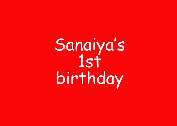 Sanaiya's 1st birthday