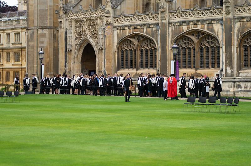 Degree Ceremony at King's College, Cambridge