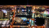 Las Vegas at night from Above
