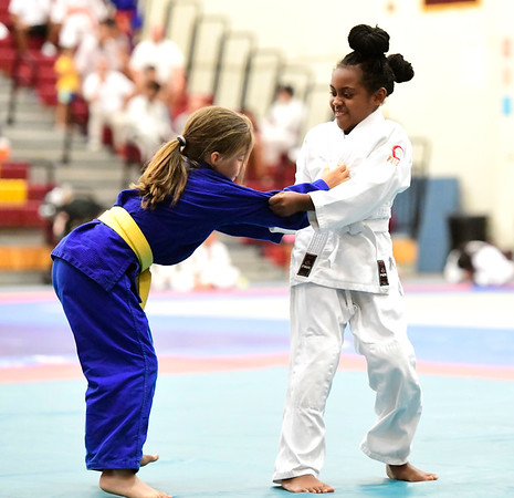 7/20/2019 Mike Orazzi | Staff Julia Roy and Aleya Mercado during the Nutmeg Games Judo held at New Britain High School on Saturday.