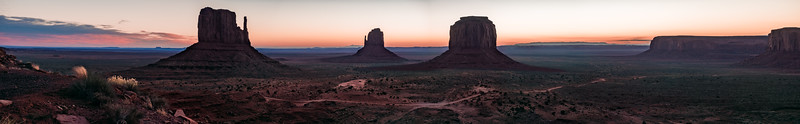 Monument Valley for a Long Wall