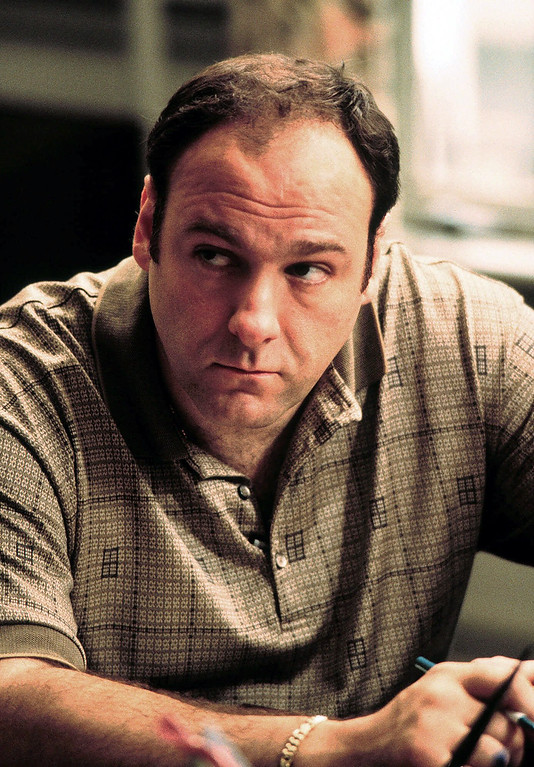 """. This 1999 file photo released by HBO shows actor James Gandolfini as Tony Soprano in the critically acclaimed HBO series \""""The Sopranos.\"""" HBO and the managers for Gandolfini say the actor died Wednesday, June 19, 2013, in Italy. He was 51. (AP Photo/HBO, Anthony Nesta, file)"""