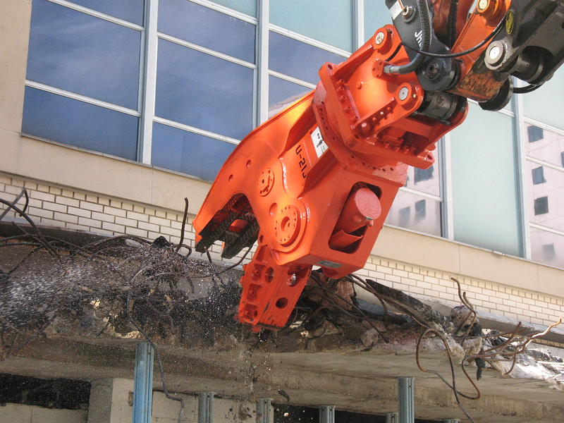 NPK U21JR concrete pulverizer on Hitachi excavator-commercial demolition (1).JPG