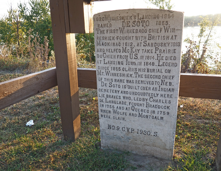 Winneshiek Marker by Dr. C. V. Porter