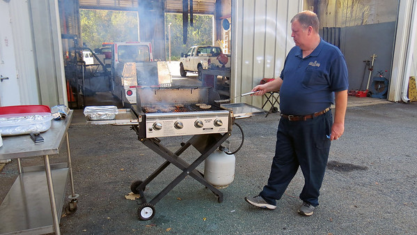 "September 29:  Another of our ""cookouts"" .  .  ."