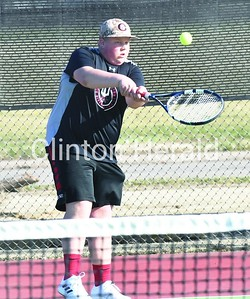 Bettendorf at Clinton boys tennis 4.2.19