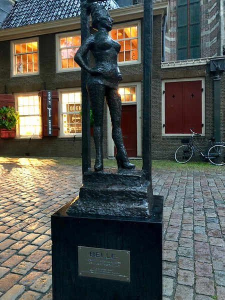 "Statue of Belle dedicated to the Unknown Prostitute - honors ""sex workers around the world""  - Red Light District - Amsterdam"