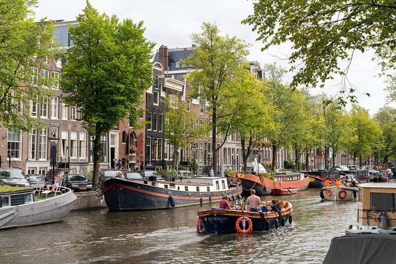 Houseboats on an Amsterdam canal