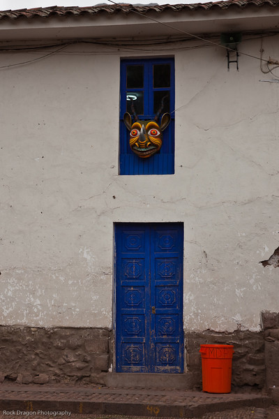 A door in the town square of Pisac, Peru.