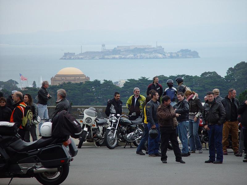 Alcatraz as viewed from Southwestern SF
