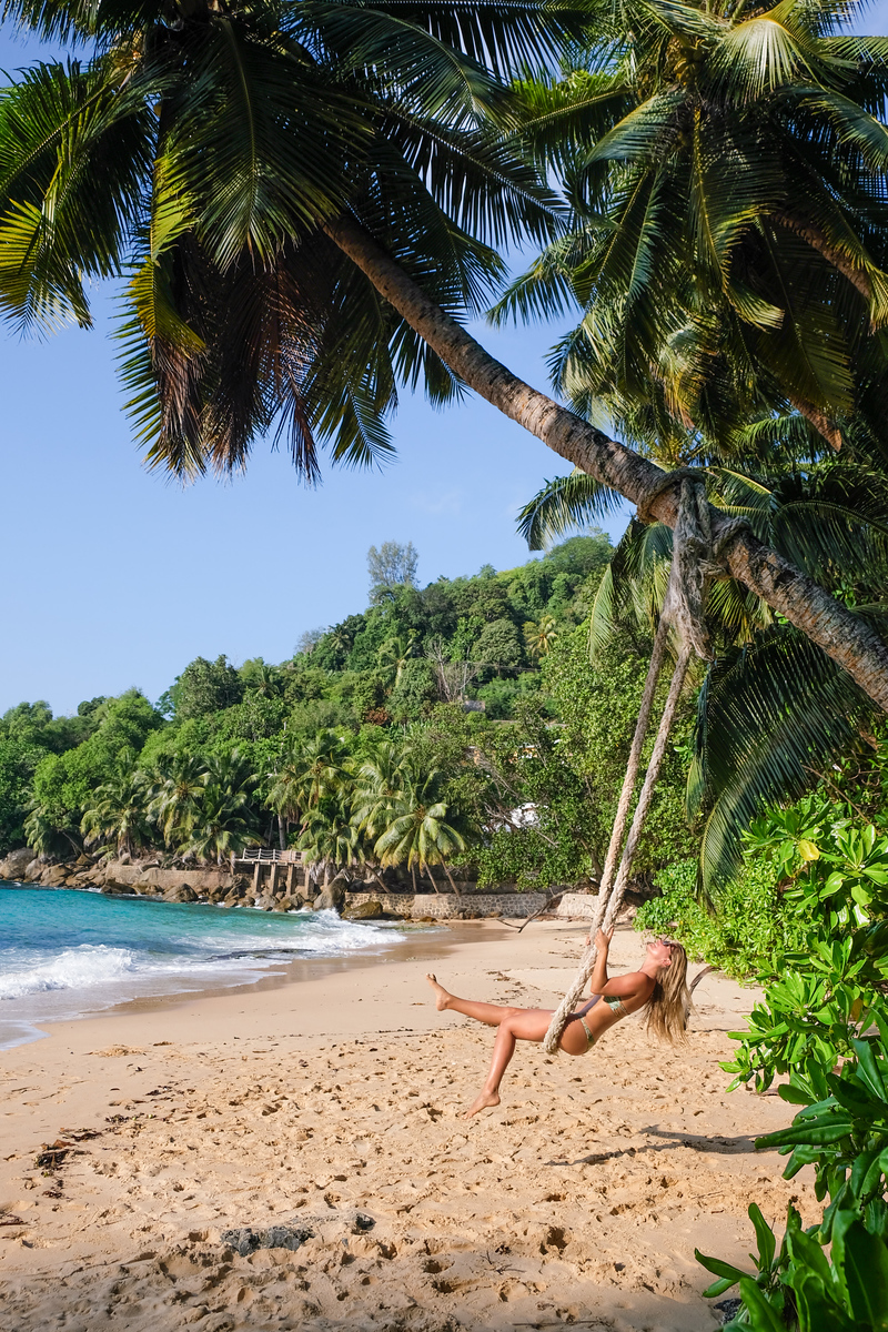 Beach Swing on Mahe Island