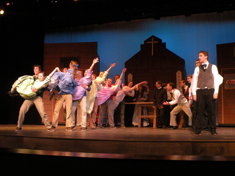 Premier Weekend in the Jochum Performing Arts Center features Seven Brides for Seven Brothers.  Thanks to John Exoo for the photos!