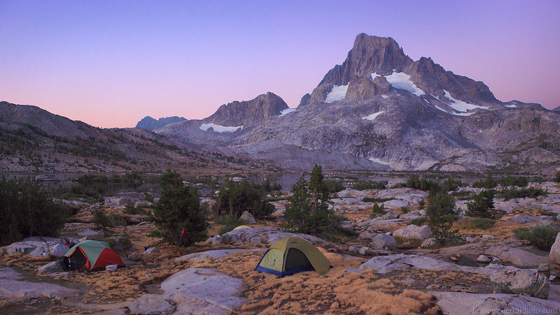 Thousand Island Lake Backpacker Camp Banner Peak Ansel Adams Wilderness