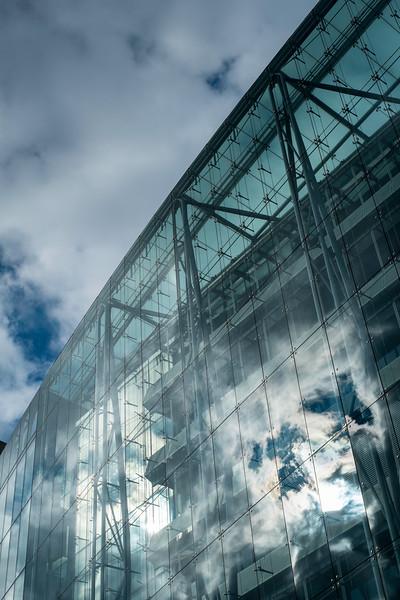 Modern office block on Euston Road, London, United Kingdom