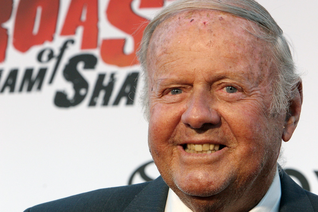 ". Actor Dick Van Patten poses for photographers on the red carpet before Comedy Central\'s ""Roast of William Shatner,\"" Sunday, Aug. 13, 2006, in Los Angeles.  Van Patten, the star of TV�s \'Eight is Enough\' died on June 23, 2015.  He was 86.  (AP Photo/Rene Macura)"
