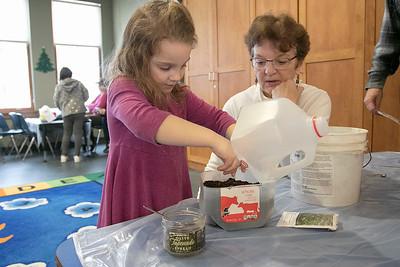 building Milk Jug greenhouses, Jan. 18, 2020